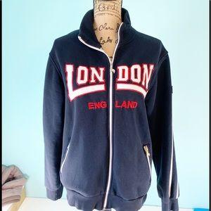Full Zip Blue London England Jacket 1415